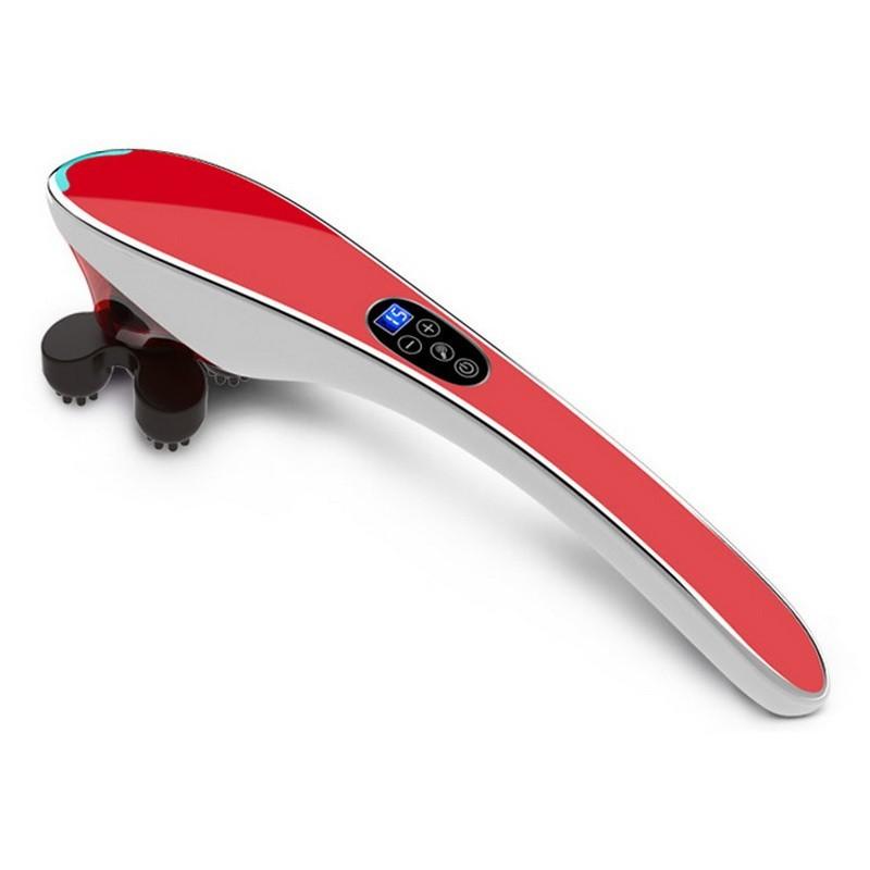 Ручной массажер для тела BODY MASSAGER c ИК-прогревом (красный)
