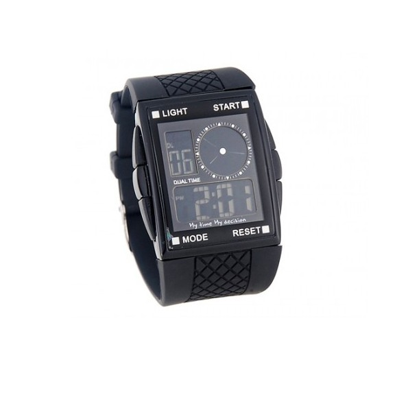 Электронные LED часы OTS F63BСпортивные LED часы<br>Привычными часами на запястье со стрелками уже просто невозможно удивить людей. Если вы хотите двигаться в ногу со временем и выглядеть стильно в любых жизненных ситуациях, то скорее покупайте электронные LED часы OTS F63B по доступной цене в интернет магазине Мелеон.<br>