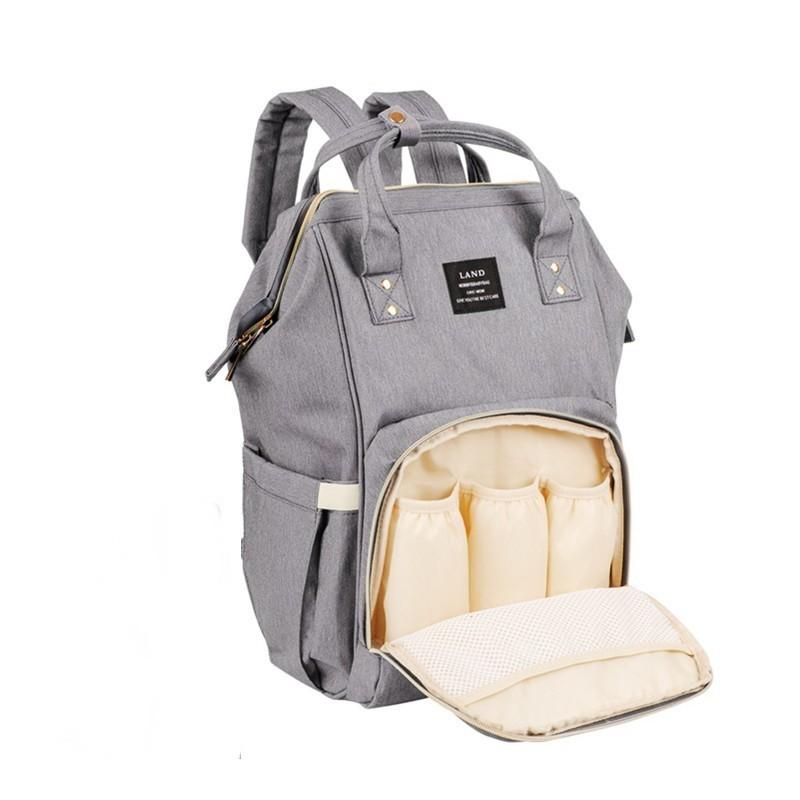 Сумка-рюкзак для мамы Baby Mo, цвет в ассорименте, Серый