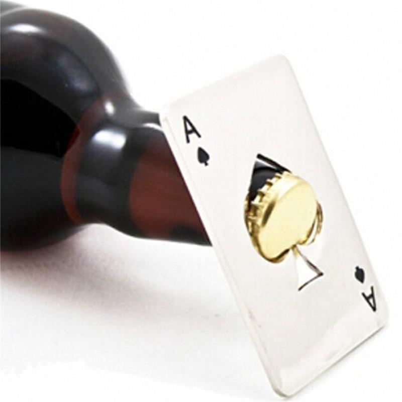 Стильная открывашка в виде карты - ТузОткрывалки и пробки<br>Любите стильные и удобные аксессуары? Если вы периодически расслабляетесь с друзьями за алкогольными напитками и карточными играми, то вам просто необходима стильная открывашка в виде карты «Туз».<br>