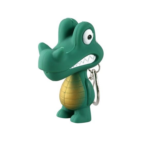 Брелок крокодил с горящими глазами и звукомОстальные брелоки<br>Брелок крокодил с горящими глазами и звуком станет приятным сюрпризом для каждого человека. Аксессуар можно зафиксировать на ключах или сумке!<br>