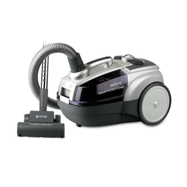Пылесос Vitek VT-1833 PR VT-1833(PR)Пылесосы и фильтры к ним<br>Уборка помещений превратится в удовольствие, если воспользоваться пылесосом с аквафильтром VT-1833 PR. Данная техника отличается удобством в эксплуатации. Пылесос оснащен эргономичной ручкой для переноски, удобными кнопками включения /выключения, автоматической смотки шнура питания и регулировки мощности всасывания. Используя предлагаемые в комплекте насадки, вы можете легко удалить грязь, волосы или пыль из любых труднодоступных мест.<br>