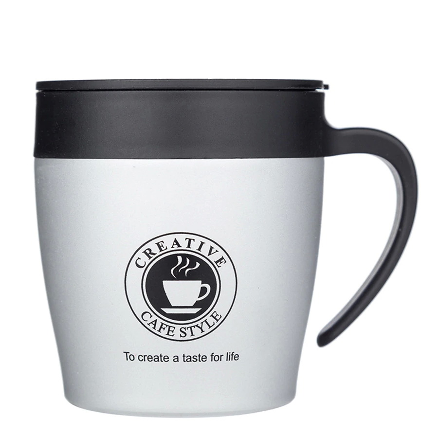 Термокружка Creative Cafe Style 330 мл, серебро