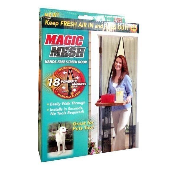 Магнитная шторка - москитная сетка Magic Mesh (Меджик Меш) фото