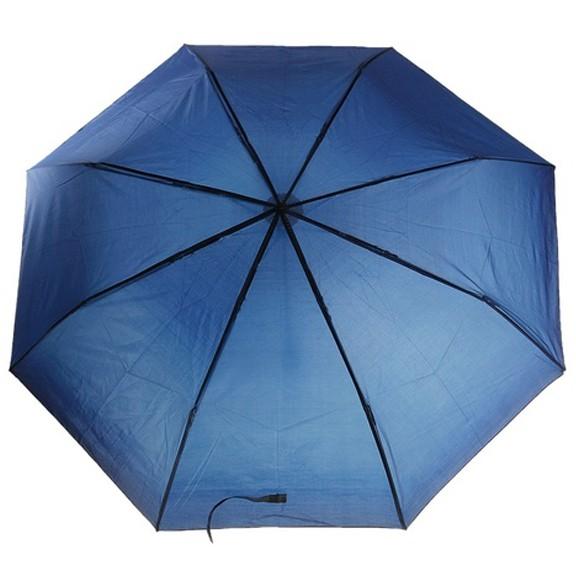 Зонт складной механический — темно-синий