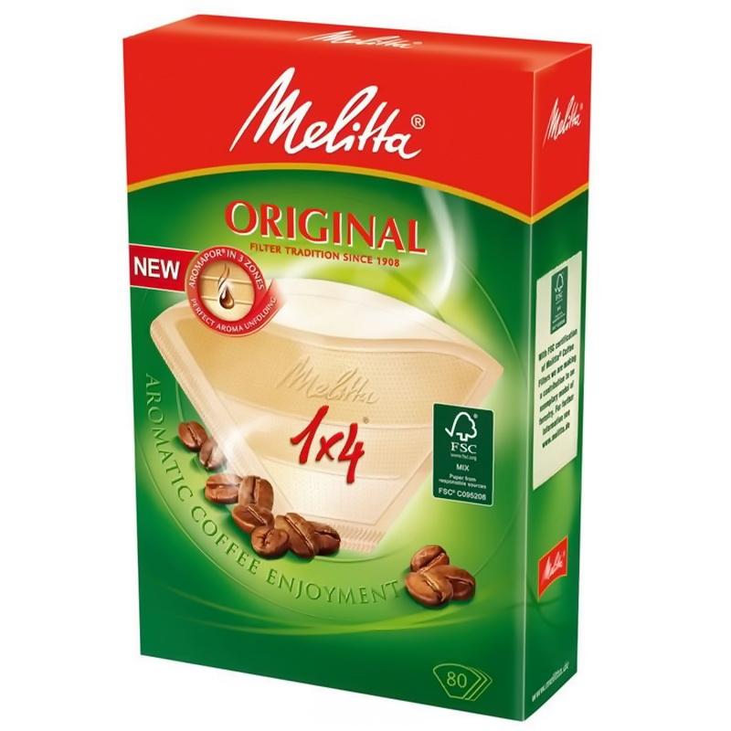 Фильтры бумажные для заваривания кофе Melitta 100001, 1к4, коричневый фото