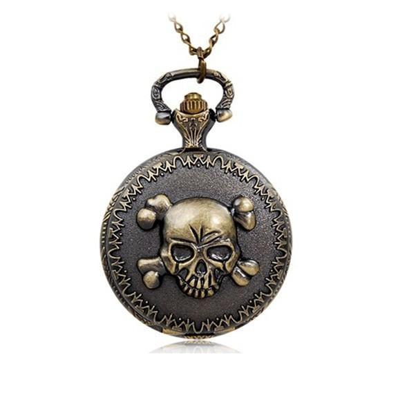 Карманные часы ЧерепКарманные часы<br>Карманные часы Череп станут приятным подарком для байкера или человека, который увлекается подобными аксессуарами.<br>