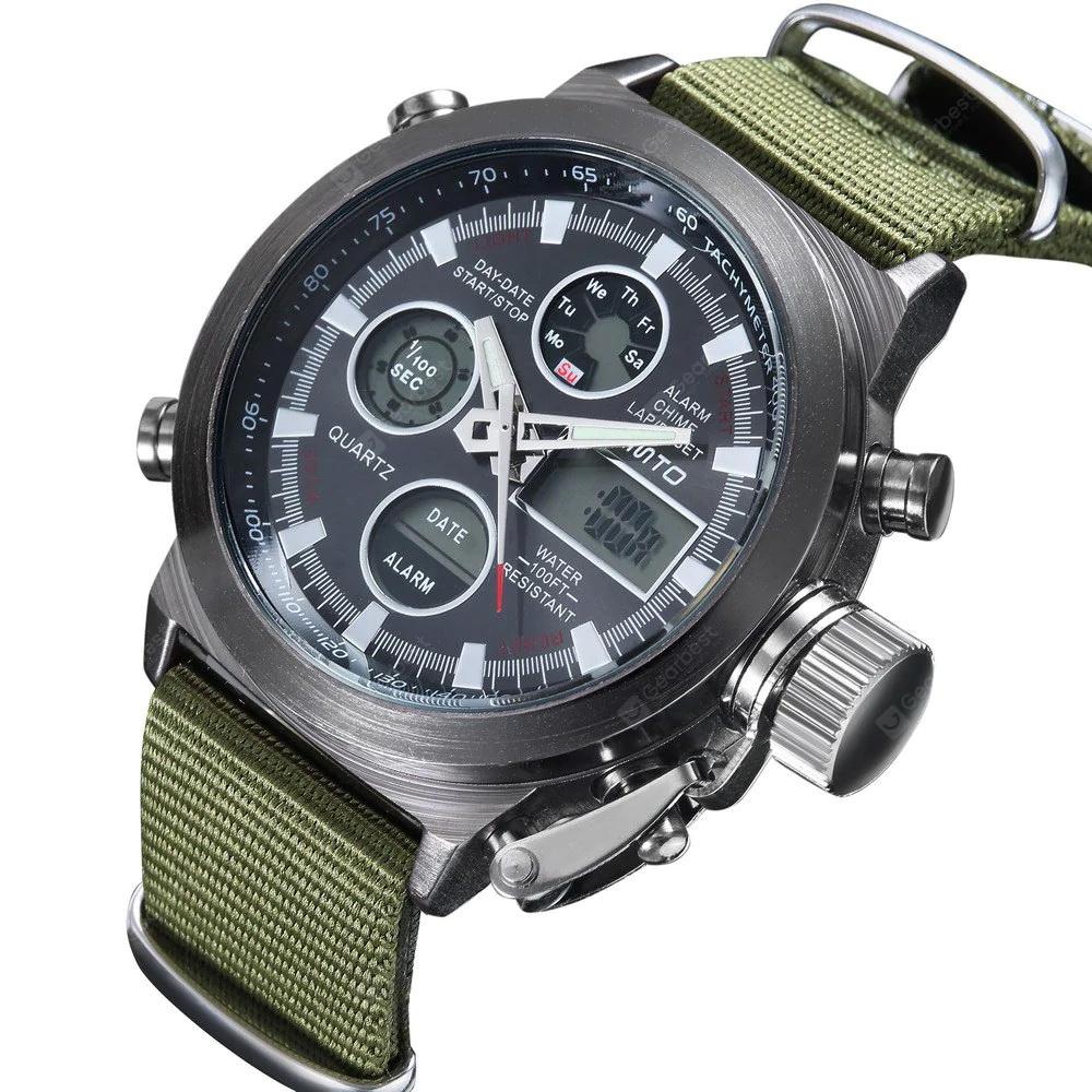 Часы Gimho, темный, зеленый