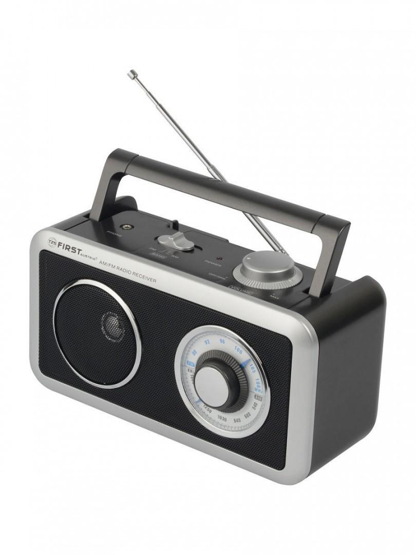 Радиоприемник FIRST 1905-BA, AM/FM, выходы AUX/наушники, питание AC/DC. Питание от сети/батареек