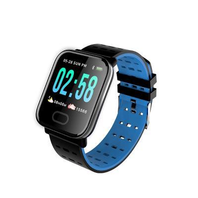 Умные часы с измерителем давления A6 Smart Bracelet Sistained Heart Rate, синий