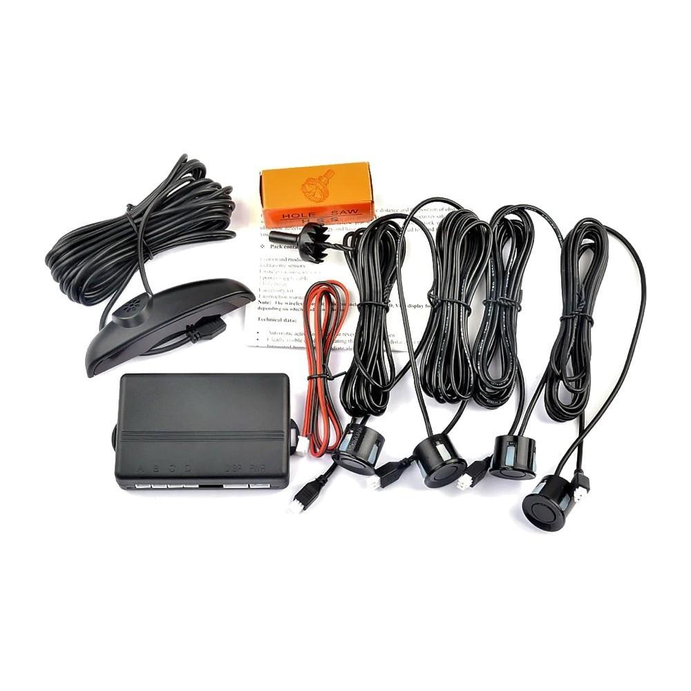 Парктроник на 4 датчика Assistant Parking Sensor, чёрный