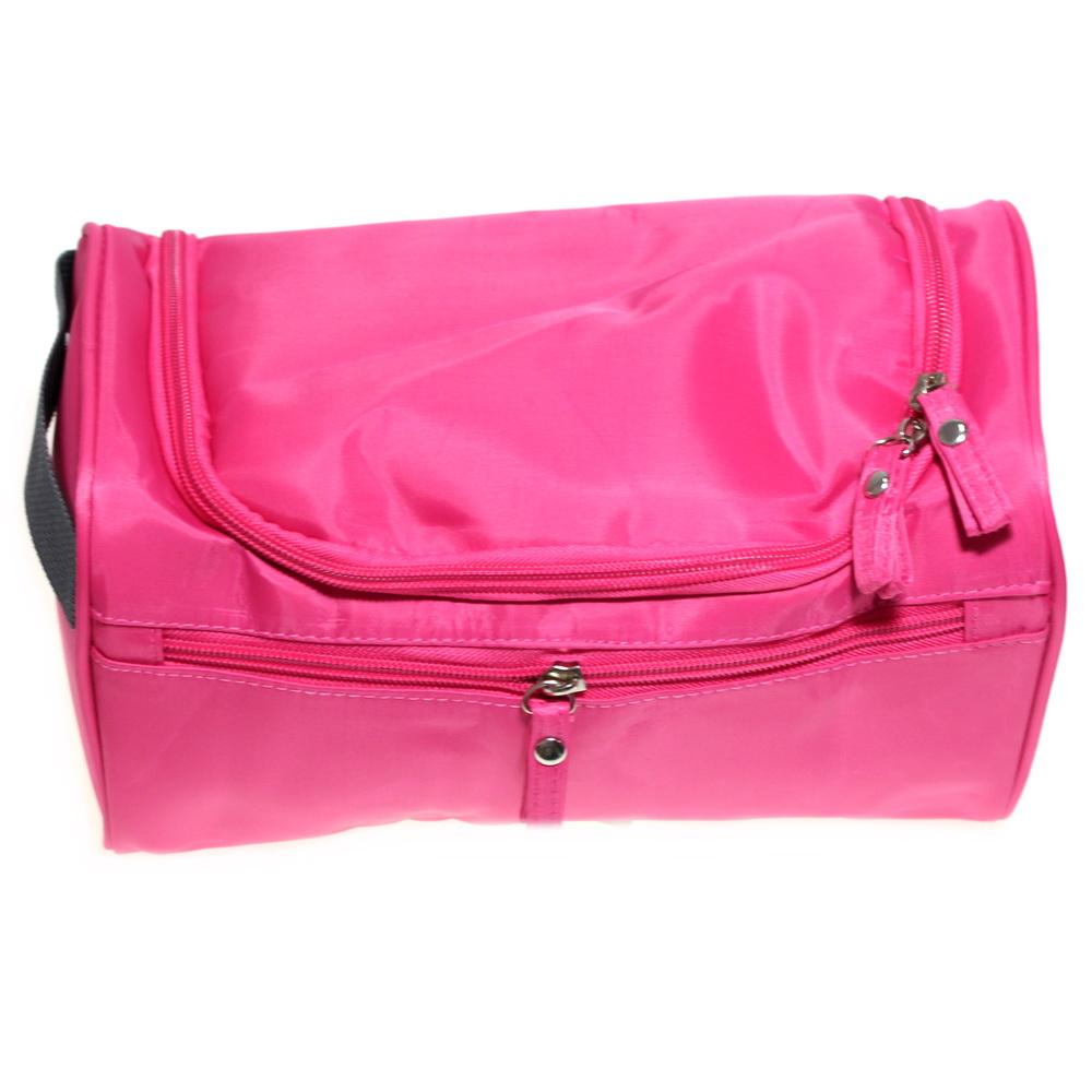 Косметичка-органайзер для хранения гигиенических предметов, тёмно-розовый фото