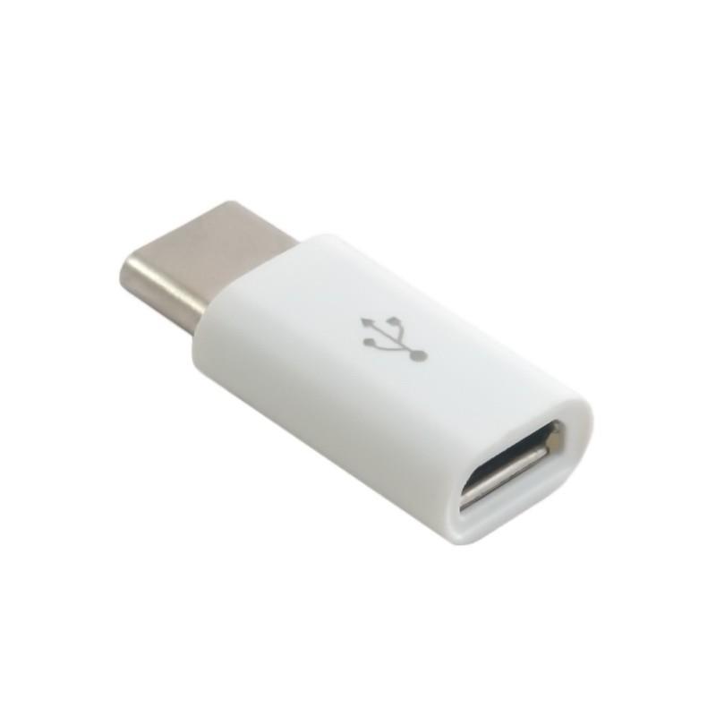 Переходник Type C папа - Micro USB мама, Белый  - купить со скидкой