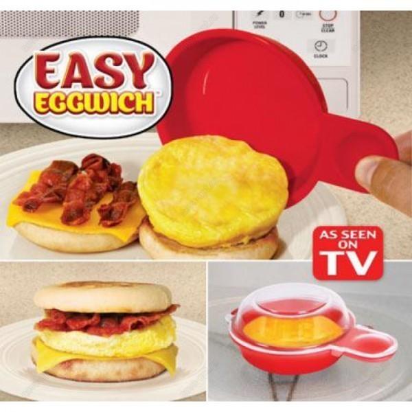 Яичница Easy Eggwich - омлет в микроволновкеДля микроволновки<br>Яичница – это стандартный завтрак для большинства семей. Думаете, что перепробовали уже все рецепты и близких удивить без затрат времени и усилий не получится? Вы ошибаетесь! Вам поможет революционная воздушная яичница Easy Eggwich! Всего за минуту вы приготовите удивительный завтрак!