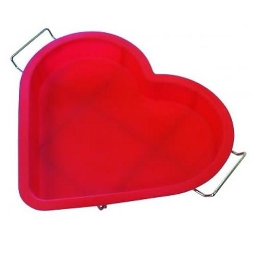 Форма силиконовая для выпечки Regent Inox СердцеСиликоновые формы<br>Силиконовая форма идеально подходит для выпечки кексов, бисквитов. Не пригорает, не чернеет, не впитывает запахи. Легко вынимается и моется. Изготовлено из пищевого силикона.<br>
