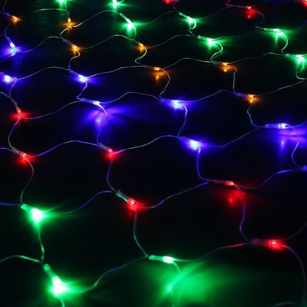 Гирлянда  - Сетка, Ш:1,6 м, В:1,6 м, нить силикон, контроллер, 8 режимов, мультиНовогодние товары<br>Пора готовиться к празднованию нового года! Если вы понимаете, что праздничное настроение и ощущение приближающихся чудес создаются благодаря особой атмосфере в доме, то посмотрите на гирлянду - Сетка, Ш:1,6 м, В:1,6 м, нить силикон, контроллер, 8 режимов, мульти. С помощью этого аксессуара можно украсить не только елку, но и любые предметы интерьера!<br>