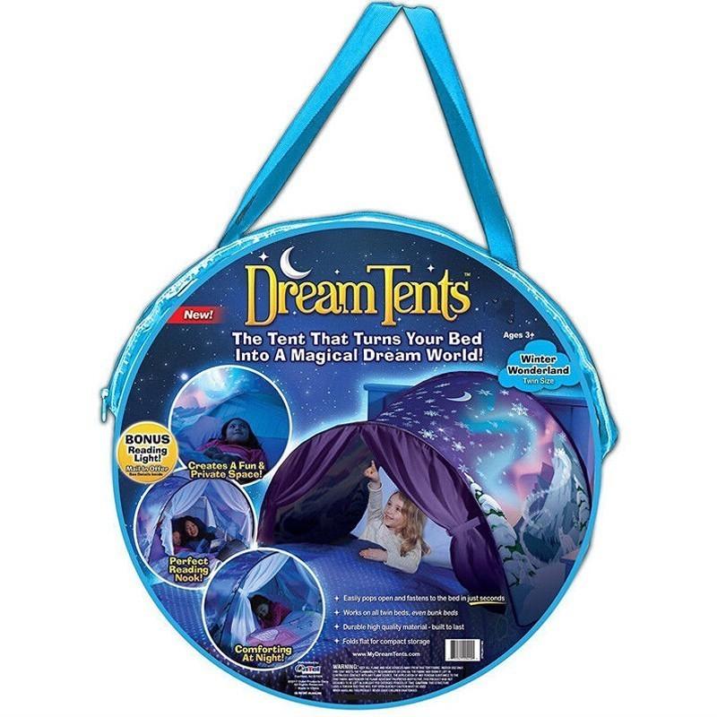 Детская палатка мечты Dream TentsОстальные игрушки<br>Ваш ребенок не готов засыпать самостоятельно без долгого чтения вами сказок? Малыш боится темноты? Подарите возможность ребенку ощутить себя в полной безопасности и немного помечтать, благодаря инновационной детской палатке мечты Dream Tents!<br>