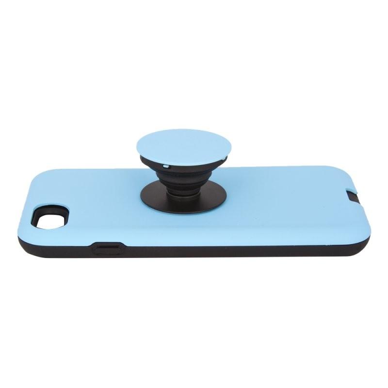 Защитная крышка «LP» для iPhone SE 2/8/7 «PopSocket Case» (голубая/коробка)