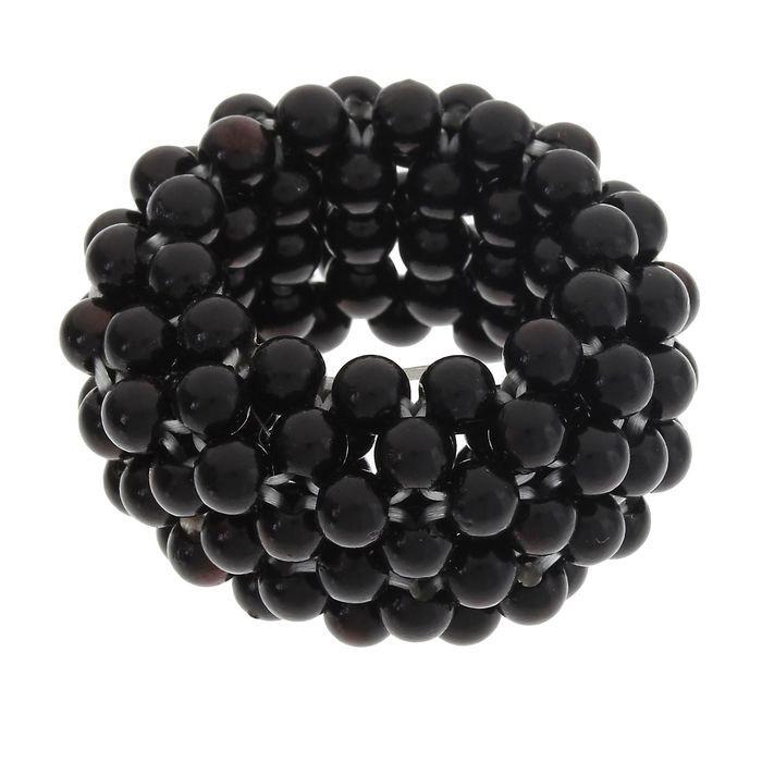 Декор для хвоста - Чёрные бусины