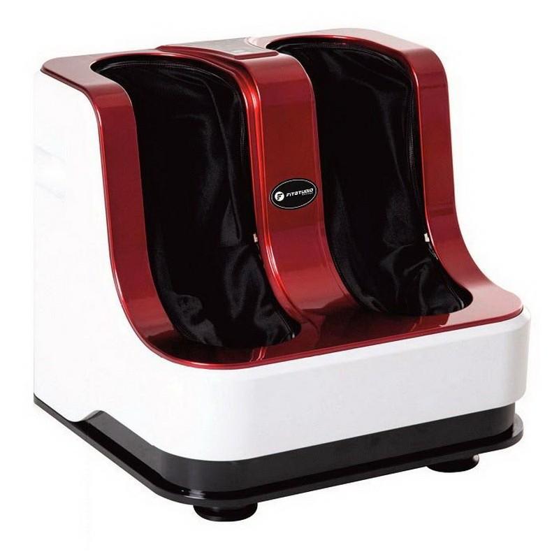 Двухмоторный массажер для ног с ИК-прогревом Canoo FitStudio (красный) фото
