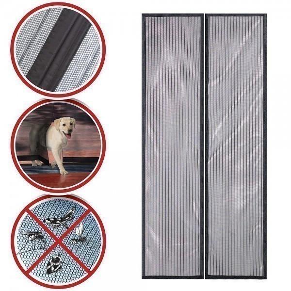 Москитная сетка на магнитах на дверь - 90x210см