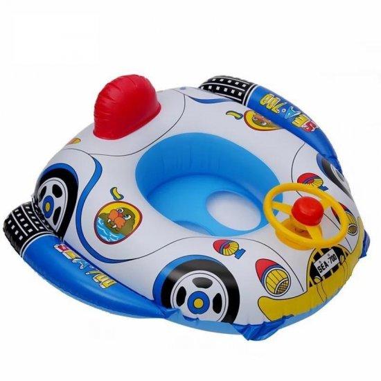 Детский надувной круг Машинка с рулем