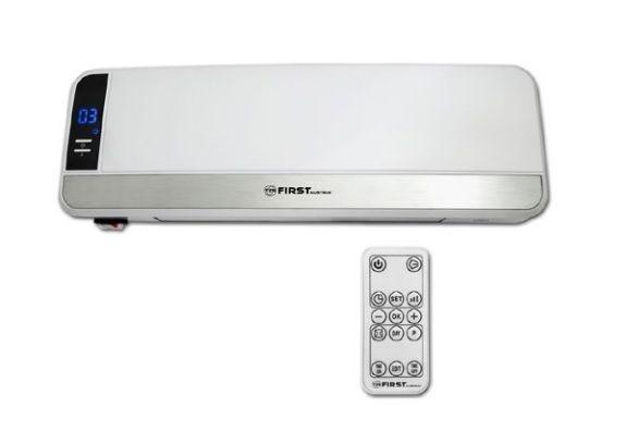 Тепловентилятор настенный FIRST 5571-1, керамический, 1000/2000 Вт, режим холод, LCD-дисплей, ДУ, таймер
