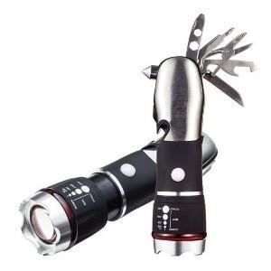 Тактический фонарь с набором инструментов, от батареек