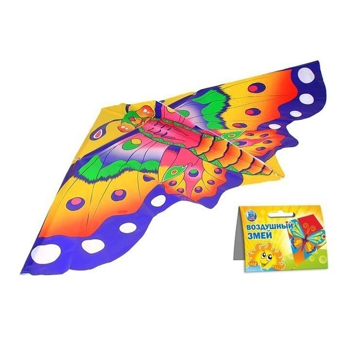 Воздушный змей - Цветная бабочка, с леской, Подвижные игры  - купить со скидкой