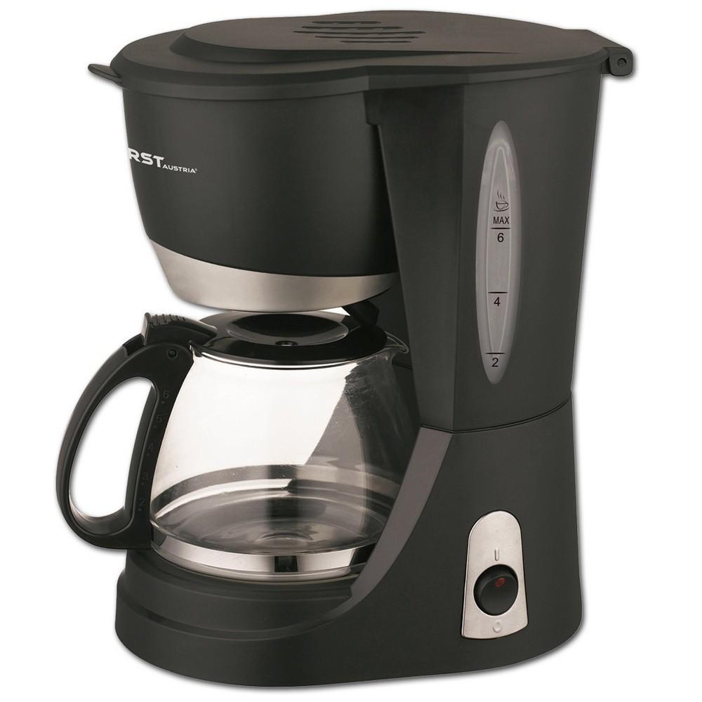 Кофеварка FIRST FA-5464-3, 6 чашек, 650 Вт, подогрев, антикапля, чёрный
