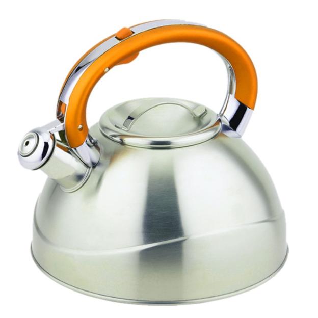 Чайник TECO 3,0 л, желтыйЧайники металлические<br>Чайник со свистком «Teco» изготовлен из высококачественной нержавеющей стали, что обеспечивает долговечность использования.<br>