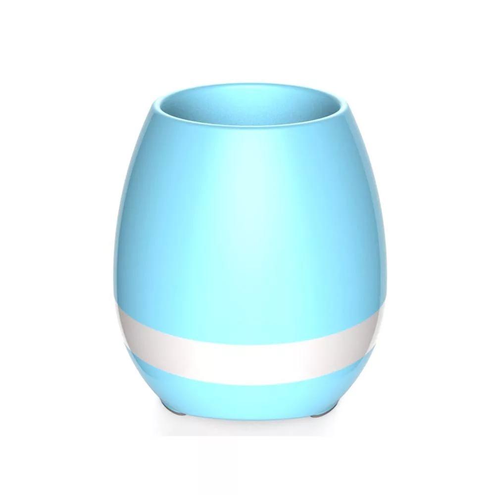 Умный музыкальный горшок для цветов Smart Music Flowerpot, Голубой фото