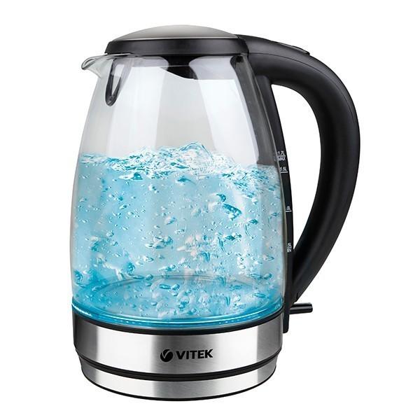 Чайник VITEK 7046(BK)Электрочайники и термопоты<br>Чайник Vitek VT-7046 ST в черно-прозрачном исполнении - стильная и надежная модель для ежедневного использования.<br>