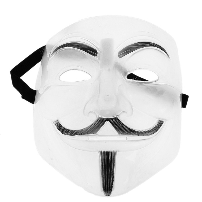 Карнавальная маска - Гай Фокс, пластик