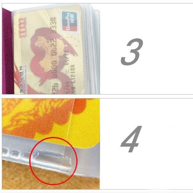 Кредитница - визитница на 24 карты, экокожа - красная от MELEON