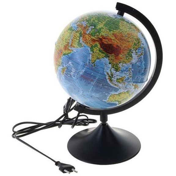 Глобус с подсветкой политический,  21 смНочники и настольные лампы<br>Если Ваше чадо далеко не всегда приносит хорошие оценки с уроков географии, то не стоит его ругать! Помочь в изучении сможет глобус с подсветкой политический,  21 см!<br>