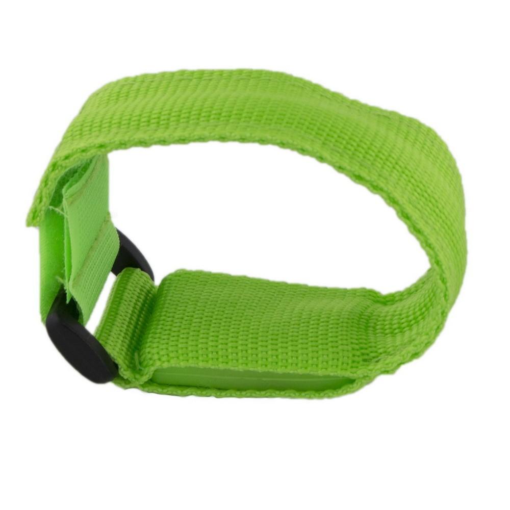 Купить со скидкой Сигнальный светодиодный браслет - зеленый