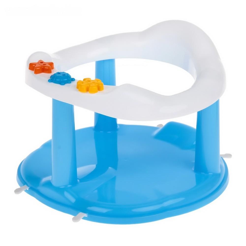 Стульчик для купания на присосках, цвет голубойДля малышей<br>Ваш малыш боится купаться в обычной ванне? Не знаете, как обеспечить чаду максимум безопасности от падений? Вам поможет стульчик для купания на присосках. Аксессуар имеет удобное сиденье и круглые формы без ребер, а благодаря игровой панели ребенок обязательно полюбит водные процедуры!<br>