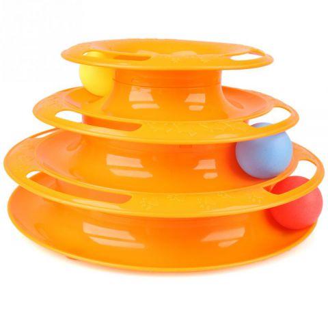 Игрушка с шариками для кошек - Мячики (Tower of tracks)Остальное<br>Вы хозяин кошки и знаете, что привычные шарики и мышки бесследно теряются в доме? А может ваш четвероногий друг просто не любит таких скучных игрушек? Побалуйте питомца революционной игрушкой с шариками для кошек  Мячики (Tower of tracks). Это – универсальное изобретение, которое никогда не надоест и даже заставить подняться с дивана самого ленивого кота!<br>