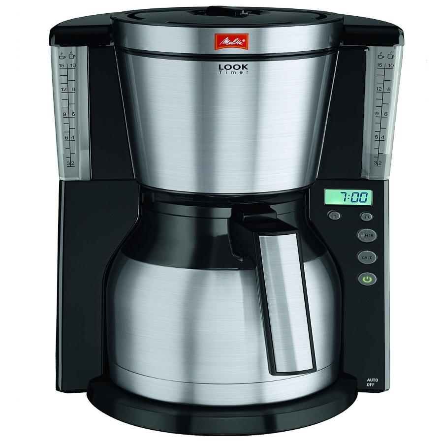Кофеварка Look IV Therm Timer, черный MELITTA 21264Кофеварки и кофемашины<br>LOOK Therm Timer впечатляет практичной функцией таймера. Свежесваренный кофе будет готов в то время, которое Вы установите.<br>