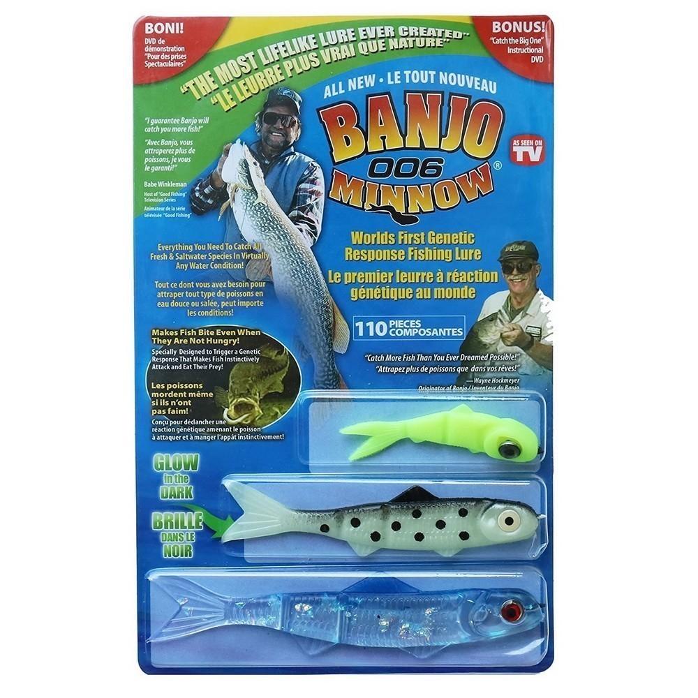 Набор приманок для ловли хищной рыбы - Banjo 006 MinnowДля охоты и рыбалки<br>Если вы не представляете свою жизнь без рыбалки или ищете оригинальный и полезный презент для заядлого рыбака, то обязательно обратите внимание на набор приманок для ловли хищной рыбы - Banjo 006 Minnow. С этим комплектом удастся поставить просто ошеломляющие рекорды в любимом провождении времени!<br>
