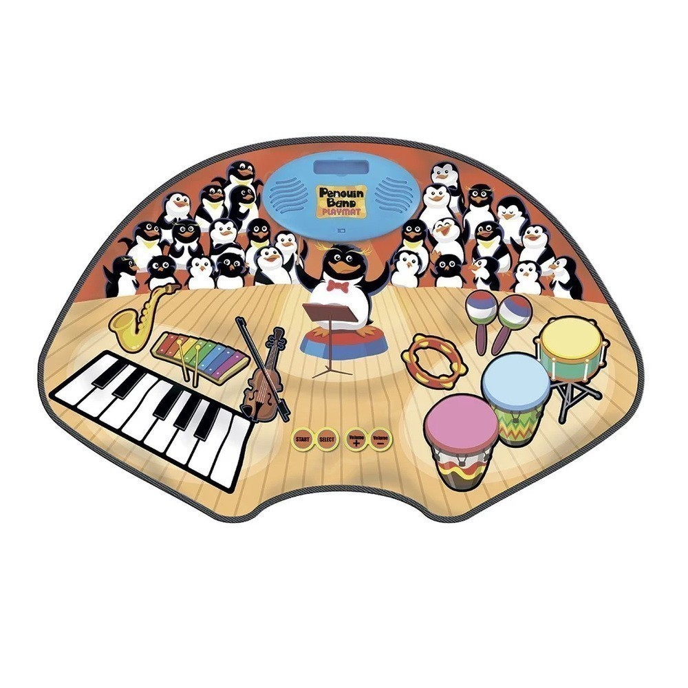 Музыкальный коврик - Группа Пингвинов, Penguin Band PlaymatОстальные игрушки<br>Ищете оригинальный подарок для ребенка в возрасте от трех лет? Благодаря инновационному музыкальному коврику Penguin Band Playmat, ваше чадо с легкостью сможет управлять целым хором пингвинов. Часы удовольствия гарантированы, а свои музыкальные шедевры можно записывать и воспроизводить!<br>