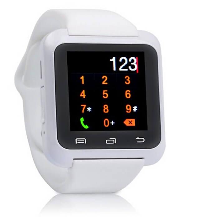 Умные часы Smart Watch U80 - белыеУмные Smart часы<br>Максимальная функциональность по минимальной цене! Китайский производитель сумел вложить все функции телефона в миниатюрные часы. И даже снабдил камерой, датчиками сна, приема воды, музыкальным и видео проигрывателем, синхронизацией со смартфоном, контактами, Facebook, VK и многое другое!<br>