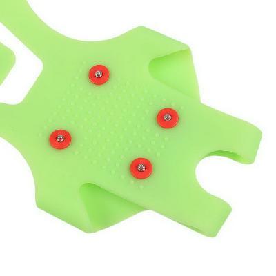 Ледоступы Ice Grippers — противоскользящие накладки на обувь, L (41-45 р.), зелёный