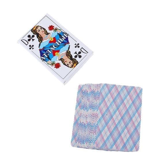 Карты игральные Атласные, 36 штХорошо всем известные Атласные игральные карты настолько привычны нашему глазу, что всякие другие карты кажутся нам необычными и уж точно какими-то нерусскими. Действительно, Атласные карты уже много десятилетий являются самыми распространенными и популярными игральными картами в России.<br>
