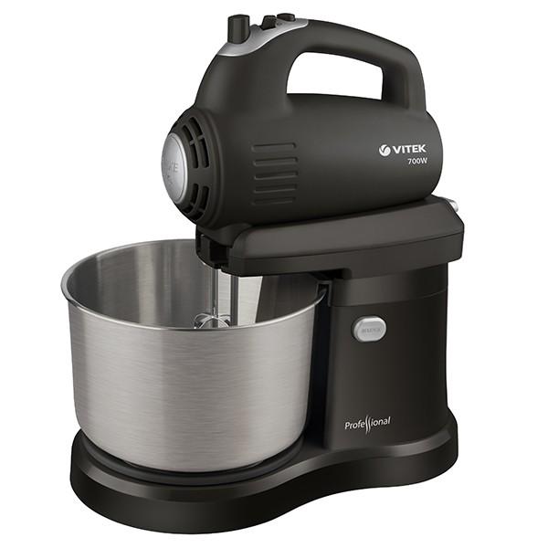 Миксер Vitek со стальной чашей VT-1417(ST)Миксеры<br>Незаменимое на кухне устройство превратится в настоящего помощника, когда вам понадобится помощь в быстром смешивании продуктов для приготовления разнообразных блюд.<br>