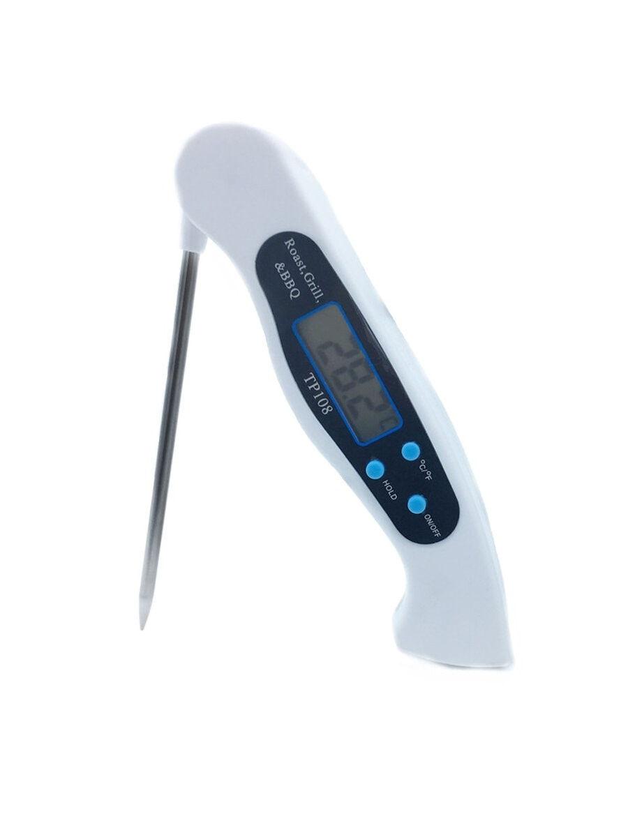 Складной термометр для определения готовности мяса, белый