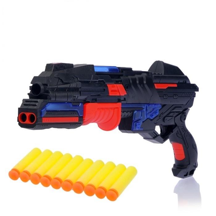Купить Бластер - Разрушитель, стреляет мягкими пулями, световые и звуковые эффекты, Игрушки для мальчиков