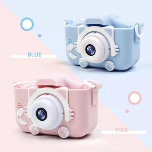 Детский фотоаппарат - Котик, голубой