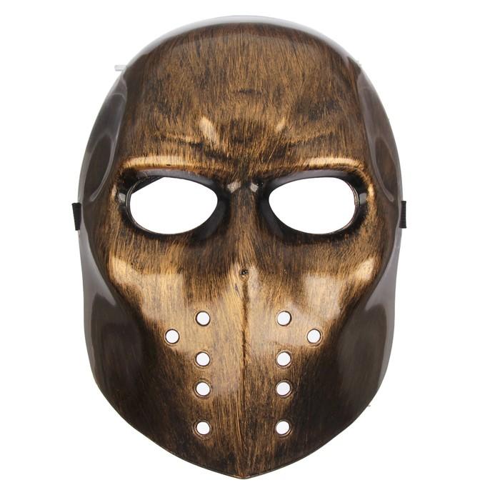 Карнавальная маска - Страх, серебро фото